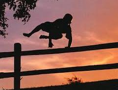 Springen over een hek